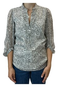 abstracted printed blouse