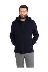 Coat with zip and hood
