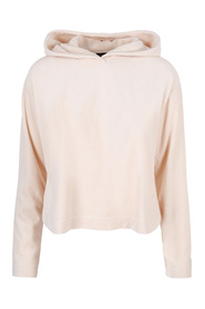 Beige Juicy Couture Velour Hooded Pullover Genser