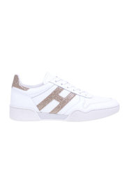 Retro volley leather sneakers