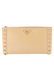 Saffiano Vernice Studded Clutch -Pre Owned Condition Excellent