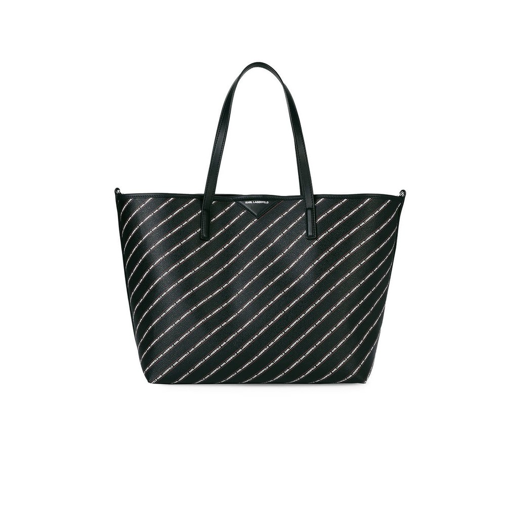 K/STRIPE LOGO SHOPPING BAG