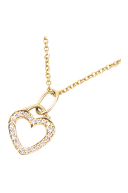 Metro Heart Diamond Necklace