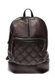Backpack with an embossed logo