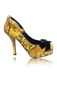 Fresco Print Ankle Strap Pumps