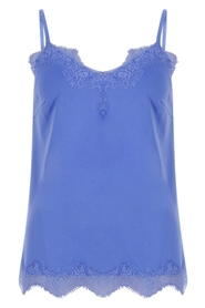 Coster Copenhagen - Strap top with lace - Sky Blue