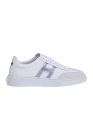 H365 sneaker in leather and suede with h in gel