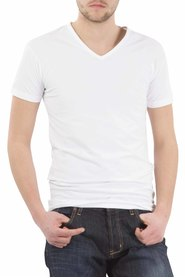 Alan Red stretch v neck Oklahoma White