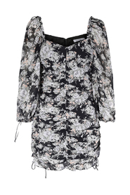 Varity Ruffle Mini Dress Midnight Flower