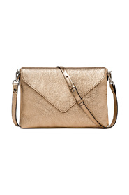 Laminated leather pouch with shoulder strap