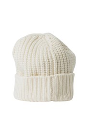 HAT WITH MIXED RIBBED CUFF