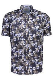 Floral printed shirt S/S