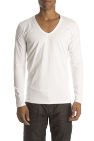 RJ Bodywear Heren lange mouw shirt wit
