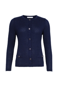 Structured Solid Col. Cardigan