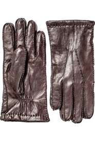 Lambskin gloves, Herr, Hestra, Dark brown