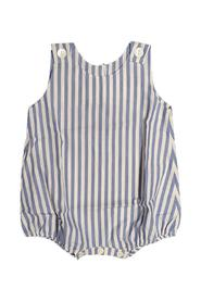 VERTICAL STRIPED COTTON STRAW
