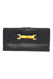 Pre-owned Bamboo Leather Long Wallet