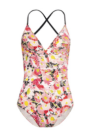 Watercolour Floral one-piece swimsuit