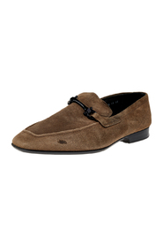 Suede Gancini Slip On Loafers