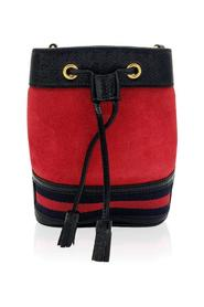 Red Ophidia bucket shoulder bag