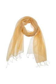 blend scarf with frayed hems