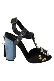 Crystal Leather Sandals