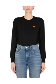 TIGER CREST PATCH SWEATER