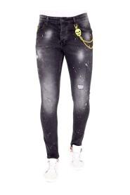 Exclusieve Zwarte Jeans Slim fit
