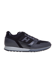 H321 sneaker in leather and fabric