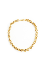 Vintage double round link necklace
