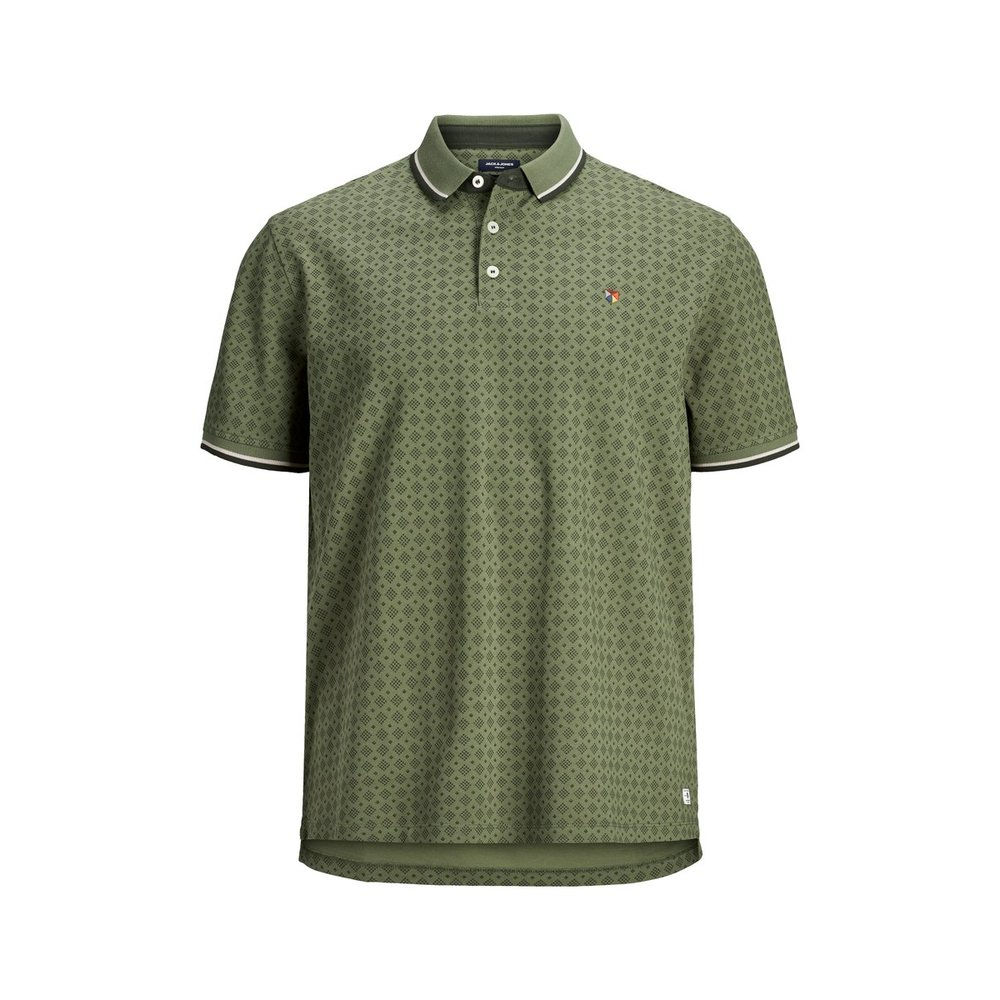 Plus size polo All-over print