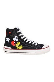 sneakers in fabric with mickey mouse print