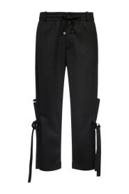Jogginghose mit Bändern in Schwarz