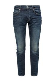 'Cigarette' raw edge jeans