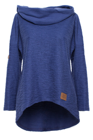 High collar pullover top