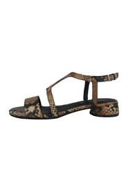 PYTHON PRINT SANDAL BAND AND CROSS HEEL