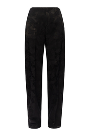 Patterned high-waisted trousers