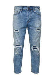 Anti-fit jeans Beam cropped damage