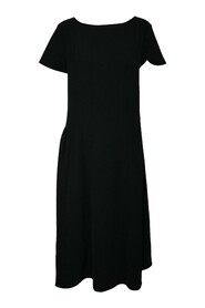Dress with Pleats on Side