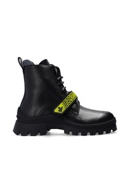 Branded hiking boots