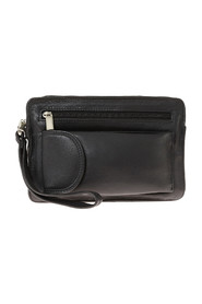 Men's bag in leather with a compartment