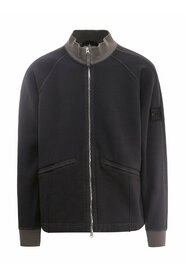 Shadow Project logo patch zip-up jacket