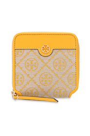 T monogram Wallet with logo