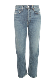 RILEY CROPPED HIGH WAISTED JEANS
