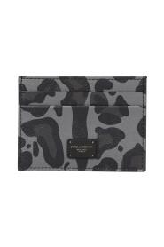 Leopard print card holder