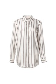 YAYA - Long Blouse with stripes - Off White