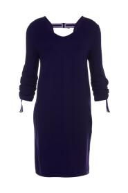 Juffrouw Jansen BARDO O-lijn jurk met aangerimpelde mouw Dark blue