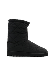 Quilted Nylon City Boots With DG Logo Patch