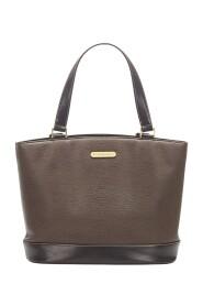 Läderhandväska