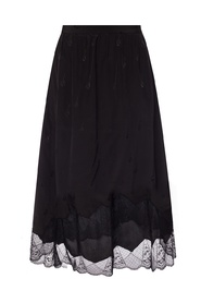Openwork trim skirt